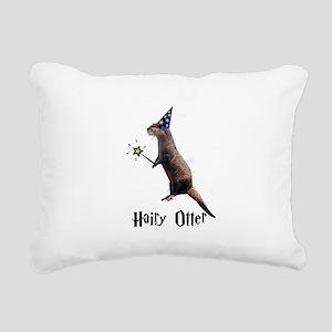 Hairy Otter Black Rectangular Canvas Pillow