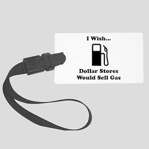 Dollar Store Gas Black Large Luggage Tag