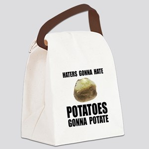 Potatoes Potate Black Canvas Lunch Bag