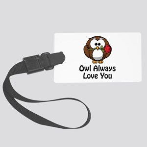 Owl Always Love You Black Large Luggage Tag