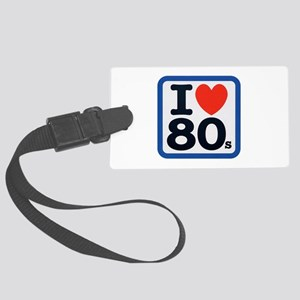 I Heart 80s Blue ONLY Large Luggage Tag