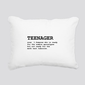 Teenager Definition Black Rectangular Canvas P