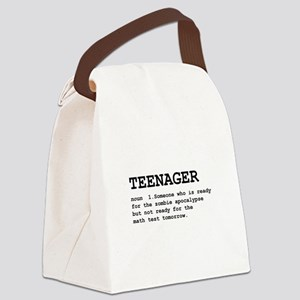 Teenager Definition Black Canvas Lunch Bag