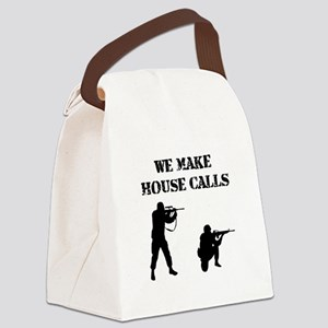 House Calls Black Canvas Lunch Bag