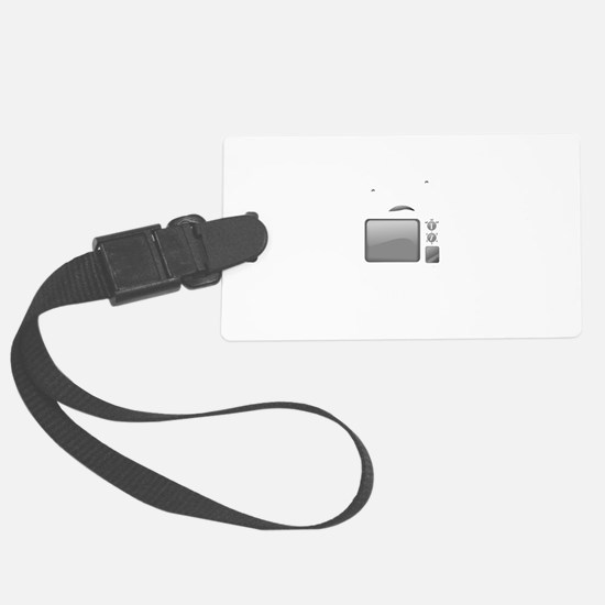 Television Internet Black.png Luggage Tag