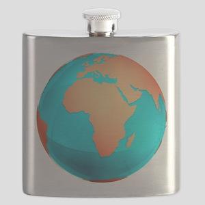 Earth, computer artwork - Flask