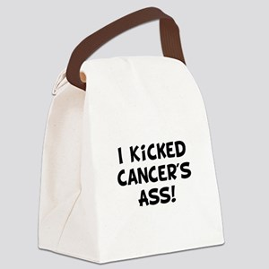 Kicked Cancer Black Canvas Lunch Bag