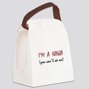 Ninja Can't See Me Canvas Lunch Bag