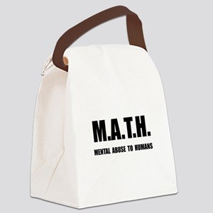 Math Abuse Canvas Lunch Bag