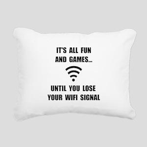 Lose Your WiFi Rectangular Canvas Pillow
