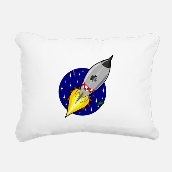 Space Rocket Blue FBC.png Rectangular Canvas Pillo