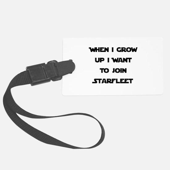 Starfleet Black.png Luggage Tag