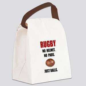 Rugby Balls Canvas Lunch Bag