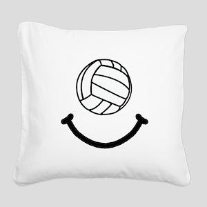 FBC Volleyball Smile Black Square Canvas Pillo