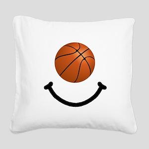FBC Basketball Smile Black Square Canvas Pillo