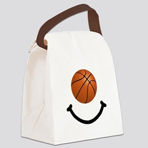 FBC Basketball Smile Black Canvas Lunch Bag