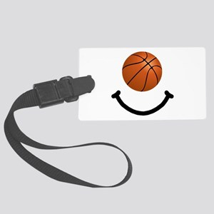 FBC Basketball Smile Black Large Luggage Tag