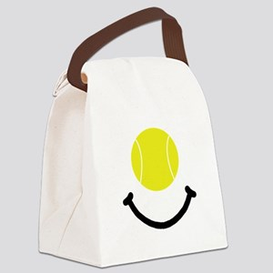 FBC Tennis Smile Black Canvas Lunch Bag