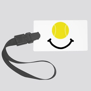 FBC Tennis Smile Black Large Luggage Tag