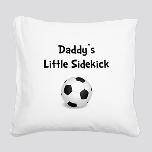 FBC Daddy Sidekick Black Square Canvas Pillow