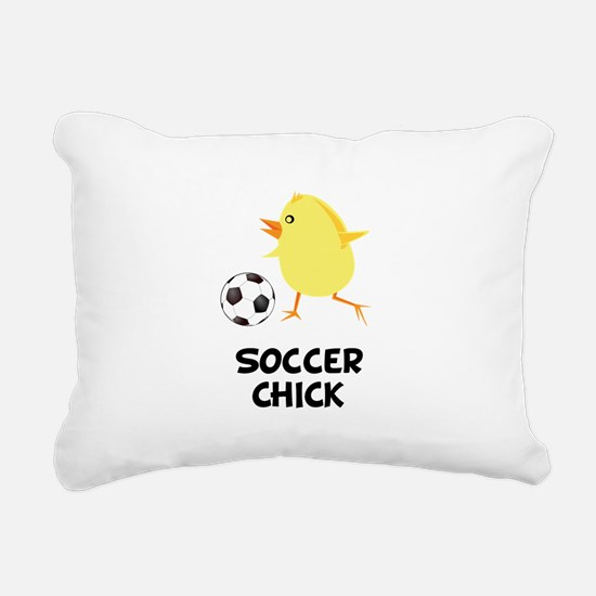 FBC Soccer Chick Black.png Rectangular Canvas Pill