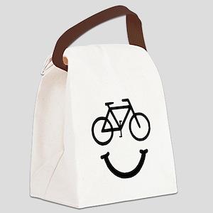Smile Bike Black Canvas Lunch Bag