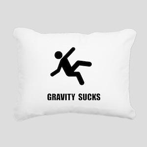 Gravity Sucks Black Rectangular Canvas Pillow