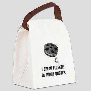 Speak Movie Quotes Canvas Lunch Bag