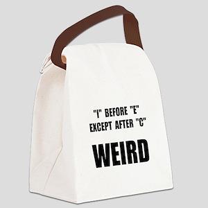 Weird Spelling Canvas Lunch Bag
