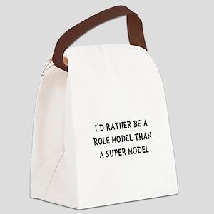Role Model Super Model Canvas Lunch Bag