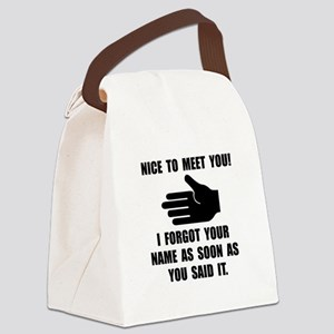 Forgot Your Name Canvas Lunch Bag
