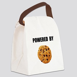 Powered By Cookie Canvas Lunch Bag