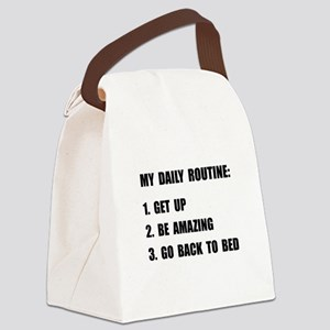 Daily Routine Canvas Lunch Bag