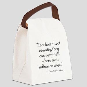 Teaching Eternity Black Canvas Lunch Bag