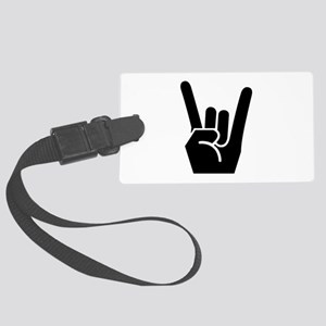 Rock Fingers Black FBC Large Luggage Tag