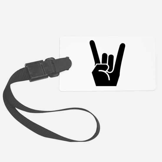 Rock Fingers Black FBC.png Luggage Tag