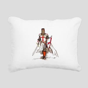 Templar Knight Red Rectangular Canvas Pillow