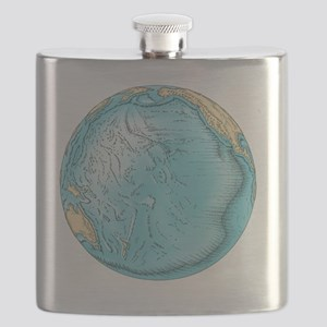 Pacific Ocean sea floor topography - Flask