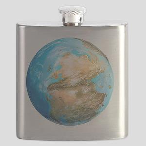 Pangea supercontinent, artwork - Flask