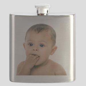 Teething baby girl - Flask