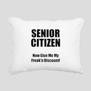 Senior Citizen Black Rectangular Canvas Pillow