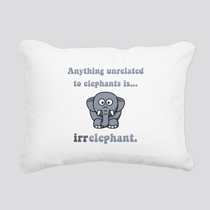 Irrelephant Grey Rectangular Canvas Pillow