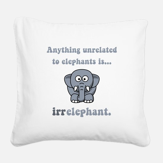 Irrelephant Grey.png Square Canvas Pillow