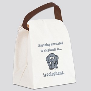 Irrelephant Grey Canvas Lunch Bag