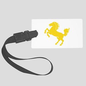 Horse Yellow Large Luggage Tag