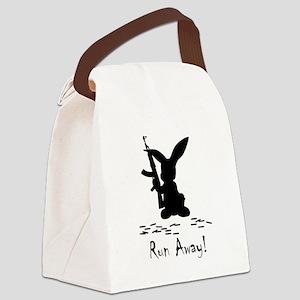 Killer Bunny Black Canvas Lunch Bag