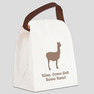 Tina Ham Brown Canvas Lunch Bag