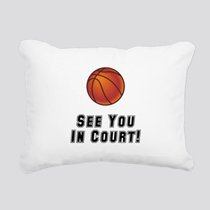 Basketball Court Black Rectangular Canvas Pill