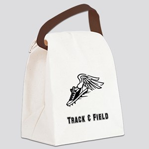Track Field Black Only Canvas Lunch Bag