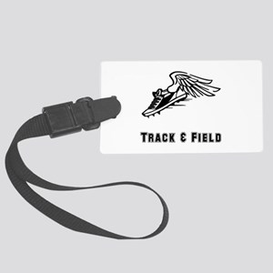 Track Field Black Only Large Luggage Tag